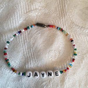 "JAYNE 7"" personalized name bracelet-NEW"